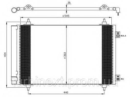 Радиатор кондиционера NRF 35844  Fiat Scudo 1.6D/2.0D 07-
