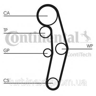 Комплект ГРМ CONTITECH CT1028K3  VW Caddy/VW T5 03- (120x30)