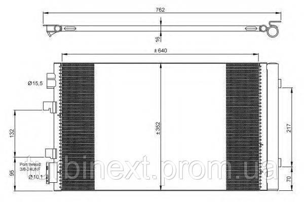 Радіатор кондиціонера NRF 35938 Renault Fluence/Scenic III/Megane III 08-