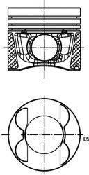 Поршень MB KOLBENSCHMIDT 40776600 OM651 2.2CDI (83.00mm/STD) (медн. втулки)
