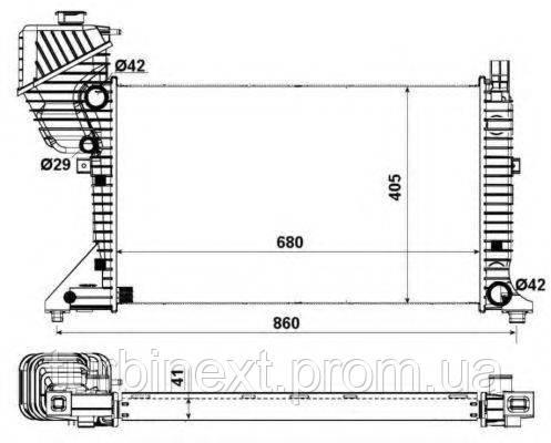 Радиатор охлаждения NRF 55348A MB Sprinter 2.2-2.7CDI 00-06 (Economy Class)