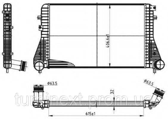 Радиатор интеркулера NRF 30316 VW Caddy III/IV 1.6-2.0 TDI 10-
