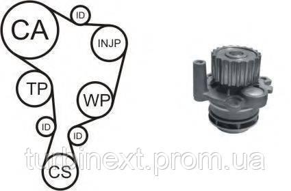 Комплект ГРМ AIRTEX WPK-937802 + помпа VW Caddy II 1.9 TDi 95-04 (помпа 9378)