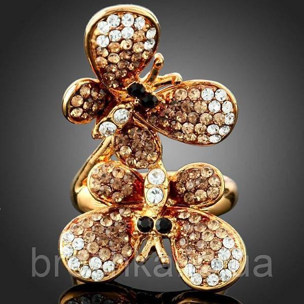 Позолоченное кольцо бабочки ювелирная бижутерия