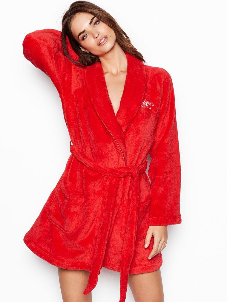 Купить Плюшевый Халат Victoria s Secret красный в Киеве от компании ... 175ec3e1b8df6