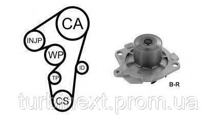 Комплект ГРМ AIRTEX WPK-1595R02 + помпа Fiat Doblo 01-/Opel Zafira B 1.9 JTD 05- (помпа 1595R)