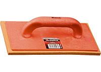 Терка пластмасова, 280 х 140 мм, губчата покриття // MTX