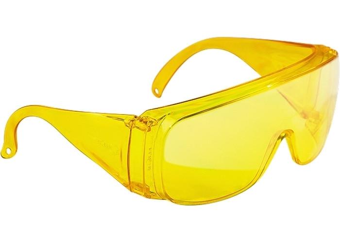 Очки защитные открытого типа, желтые, ударопрочный поликарбонат // СИБРТЕХ
