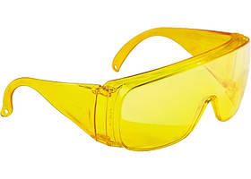 Окуляри захисні відкритого типу, жовті, ударостійкий полікарбонат // СИБРТЕХ