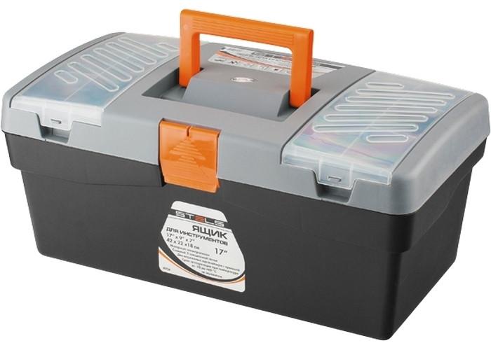 """Ящик для інструменту, 420 х 220 х 180 мм (17 """"), пластик // STELS 90704"""