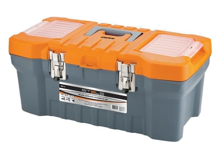 """Ящик для інструменту з мет. замками 22 """"28х23,5х56 // STELS 90713"""
