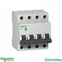 Автоматический выключатель 4-полюсный 63А С, промышленная серия Easy9 Schneider Electric