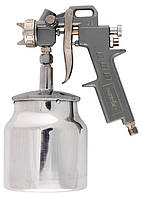Пневматичний фарборозпилювач з нижнім бачком V = 1,0 л + сопла діаметром 1.2, 1.5 1.8 мм // MTX