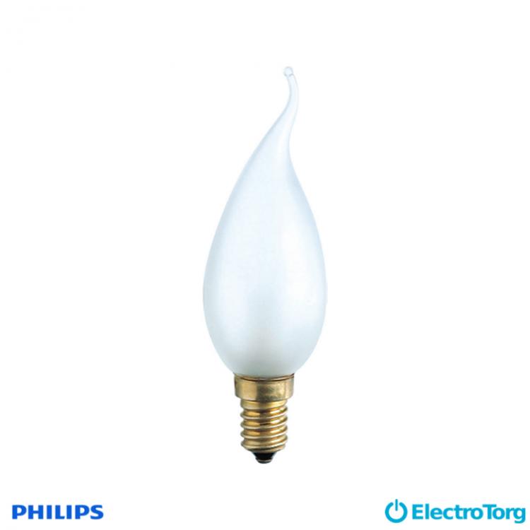 Лампа накаливания Deco 40W E14 230V BXS35 FR 1CT/4X5F Philips