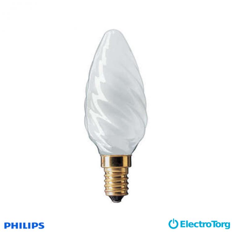 Лампа накаливания Deco 60W E14 230V BW35 FR 1CT/4X5F Philips