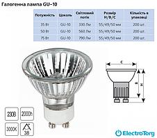Лампа галогеновая GU-10 Delux