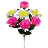 Букет искусственных роз и нарциссов, 41см (598), фото 2