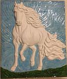 Гіпсова плитка Коні 3D - гіпсовий декор, фото 2
