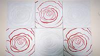 Гипсовая плитка Розы 3Д - гипсовый декор
