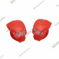 Маячок, фонарик для велосипеда (красный) - 2шт, фото 1