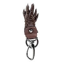 Брелок сувенир Ekzotic Leather из натуральной кожи крокодила Коричневый (ct05)