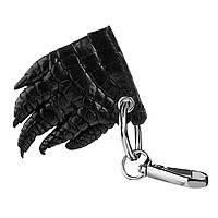 Брелок сувенир Ekzotic Leather из натуральной кожи крокодила Черный (ct08)