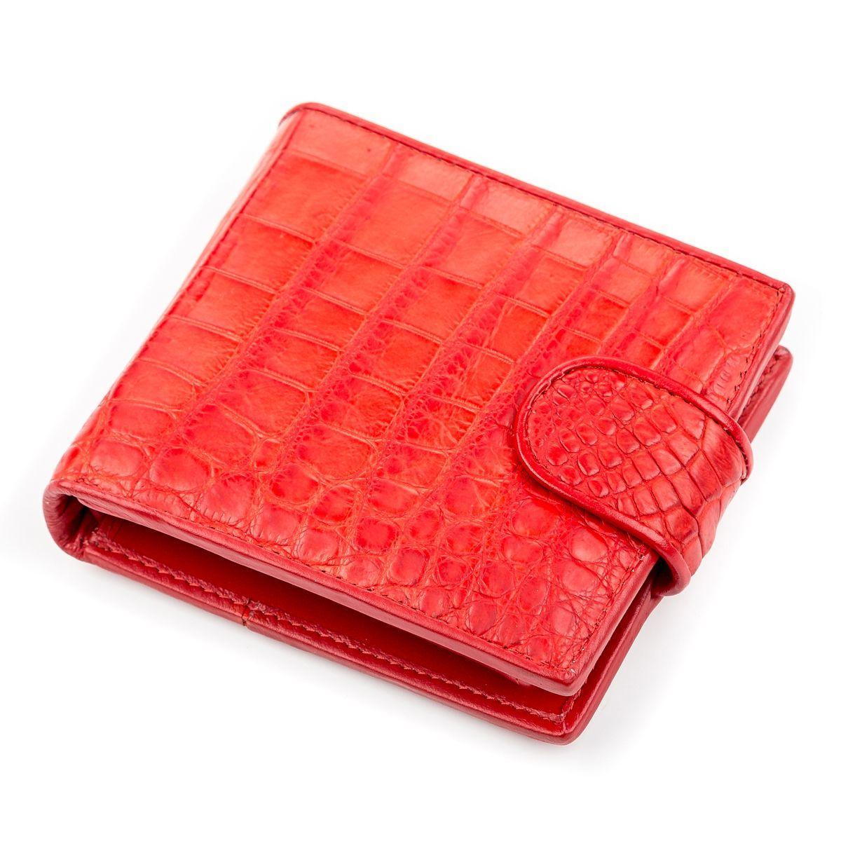 Портмоне женское  из натуральной кожи крокодила  Ekzotic Leather Красное (cw 68)