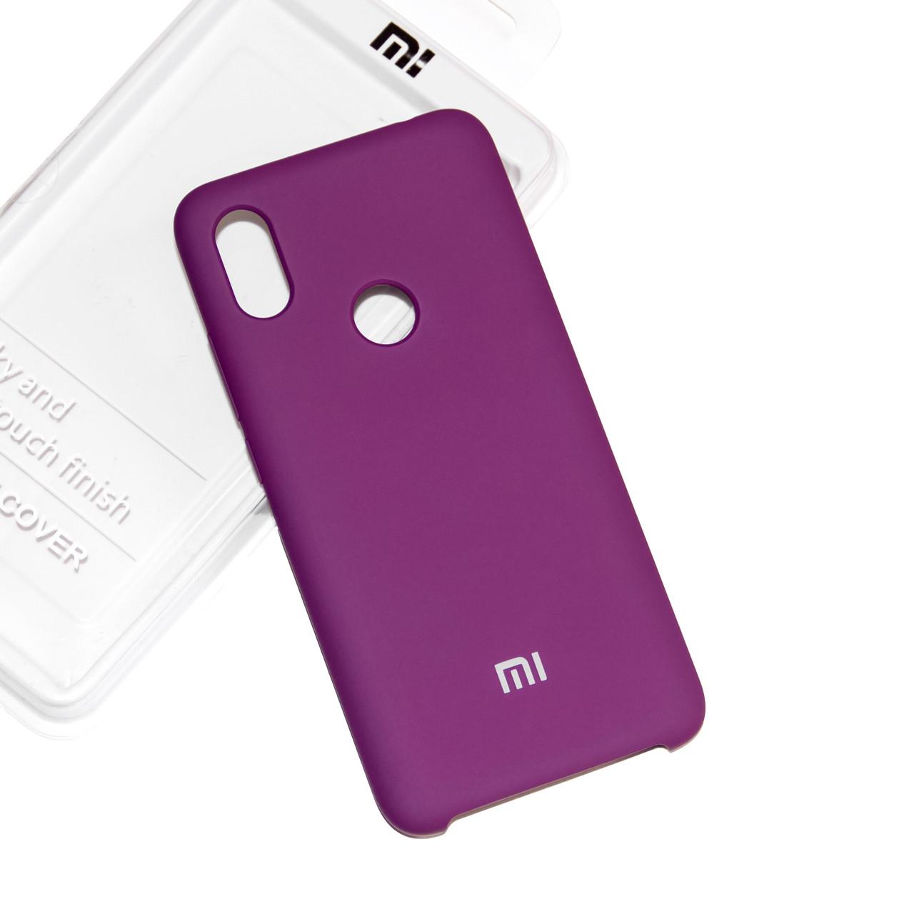 Силиконовый чехол на Xiaomi Redmi Note 6 Pro Soft-touch Fuchsia