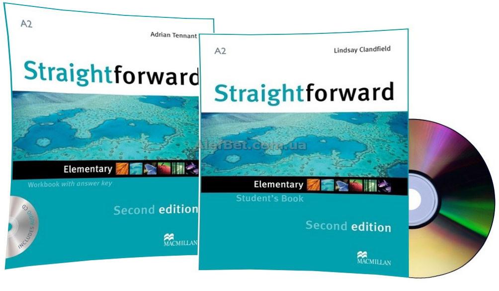 Английский язык / Straightforward / Student's+Workbook+CD. Учебник+Тетрадь (комплект), Elementary / Macmillan