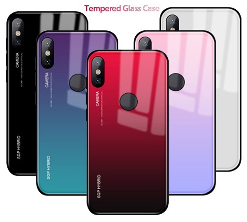 TPU+Glass чехол градиент для Xiaomi Redmi S2 (Разные цвета)
