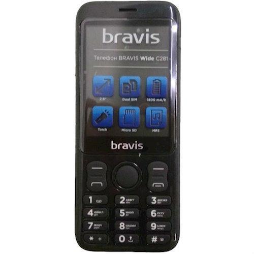 Мобильный телефон Bravis C281 Wide Dual Black