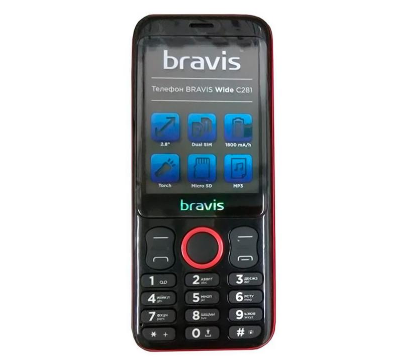 Мобильный телефон Bravis C281 Wide Dual Red