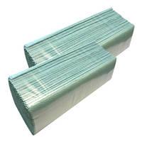 Полотенца бумажные V образные зелёные, 200л.