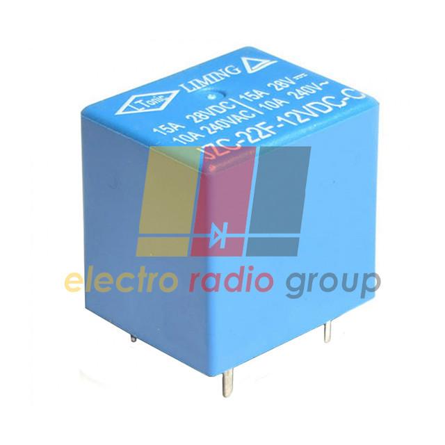 Реле JZC-22F       (12VDC) ток-10A / контакты-1С