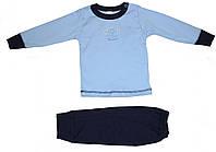 Пижама для мальчика, светло-синяя с обезьянкой, рост 74 см, Фламинго