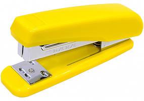 Степлер №24/6, 26/6 Economix, до 25 арк., пласт. корпус, жовтий