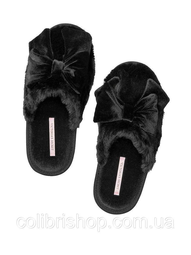 Мягкие  тапочки от Victoria's Secret  Velvet Bow Slipper