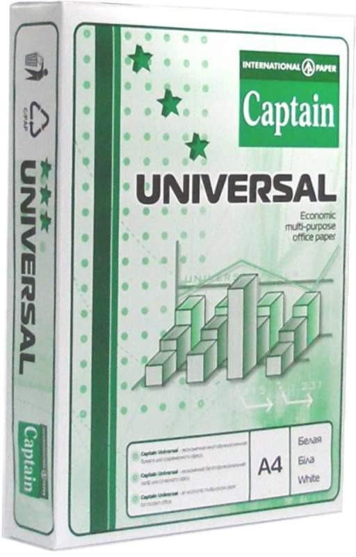 Бумага офисная CAPTAIN Universal А4 80г/м2 500л класс C - Интернет-магазин Три мелочи в Черкассах
