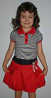 """Платье """"морячка"""" 2-5лет красное"""