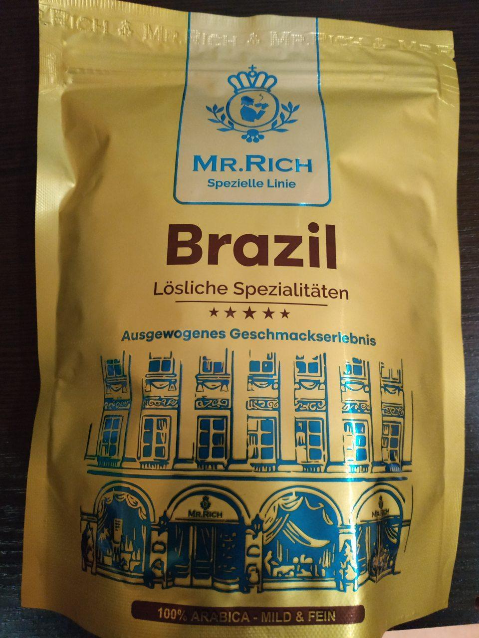 Кофе растворимый Mr. Rich Brazil 100% Арабика 170 гр