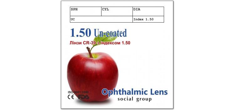 Линзы для очков CR-39 SOCIAL 1,50 (Корея)