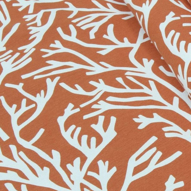 Декоративная ткань с узором Арена менклер Оранжевый