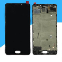 Дисплей (экран) для Meizu Pro 7 Plus + тачскрин, черный, с передней панелью