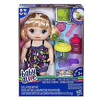 Кукла пупс Baby Alive Блондинка с блендером