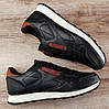 Мужские черные кроссовки Reebok Classic Leather, фото 7