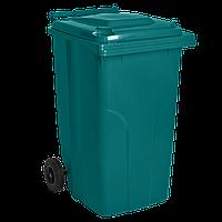Бак для мусора на колесах 120 л., серый