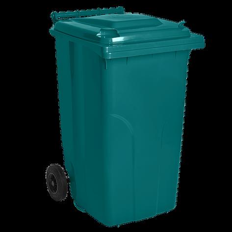 Бак для мусора на колесах 240л., серый, фото 2