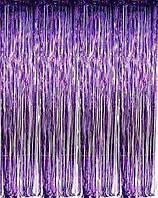 Шторка занавес из фольги для фото зон фиолетовая 1х2 метра