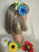 Заколка с цветами василька (26/22) (цена за 1шт. +4 грн), фото 1