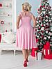 Женское приталенное платье ниже колен с красивым декольте из сетки и спинка с вырезом капелькой48-50, 52-54, фото 2
